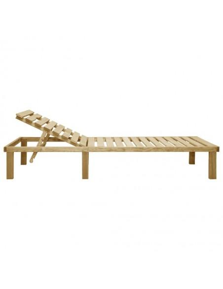 Poilsio komplektas su gelėtomis pagalvėlėmis, 2 dalių, mediena | Lauko Baldų Komplektai | duodu.lt