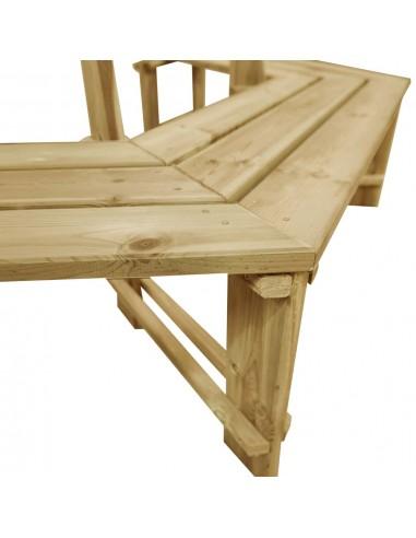 Trivietė sodo sofa iš palečių su gelėtomis pagalvėmis, mediena  | Lauko Sofos | duodu.lt