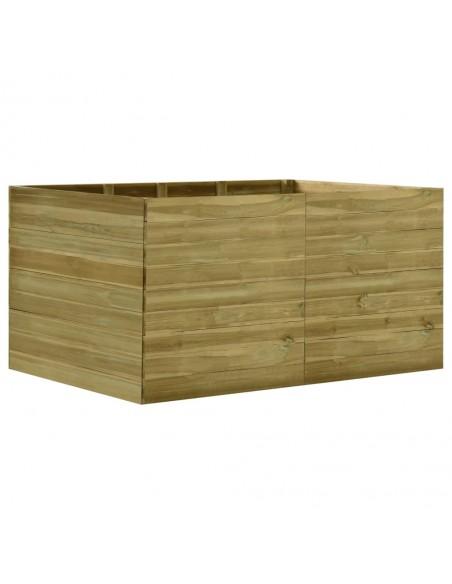 Kampinė sodo sofa iš palečių su taupe pagalvėmis, mediena  | Lauko Sofos | duodu.lt
