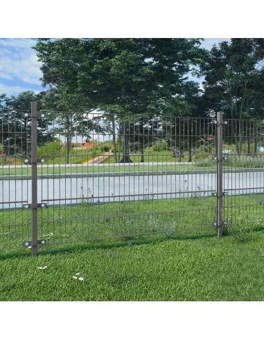 Tvoros segmentai su stulpais, 6x1,2 m, antracito spalvos | Tvoros Segmentai | duodu.lt