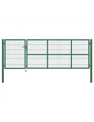 Sodo vartai, kiemo tvora, su stulp., 350x100 cm, plienas, žali   Vartai   duodu.lt