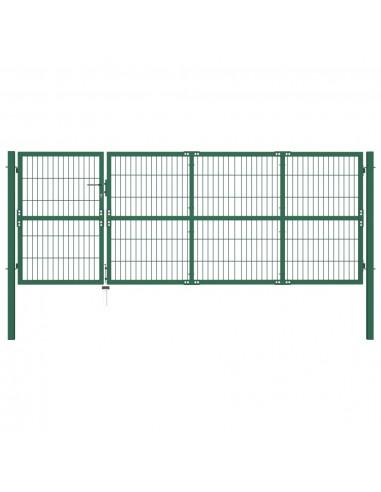 Sodo vartai, kiemo tvora, su stulp., 350x120 cm, plienas, žali   Vartai   duodu.lt