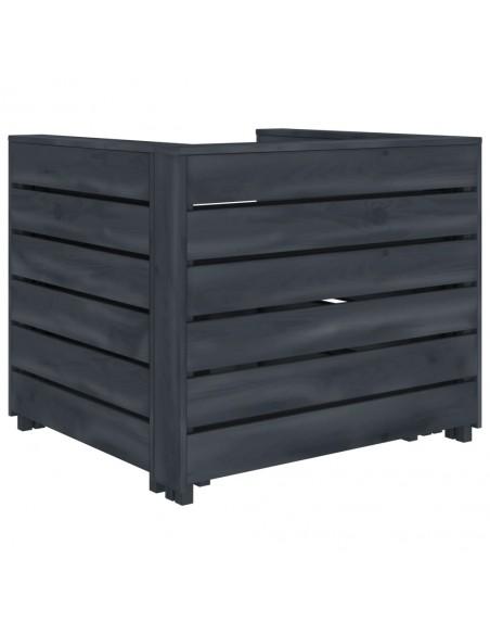 Poilsio komplektas su juodomis pagalvėlėmis, 2 dalių, mediena  | Lauko Baldų Komplektai | duodu.lt