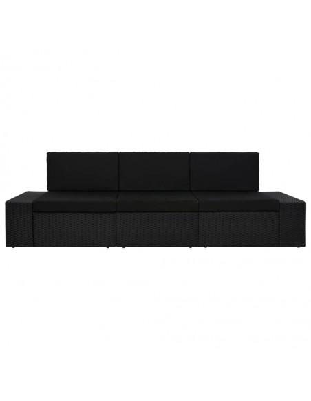 Vidurinė sodo sofa iš palečių su kreminėmis pagalvėmis, mediena    Lauko Sofos   duodu.lt