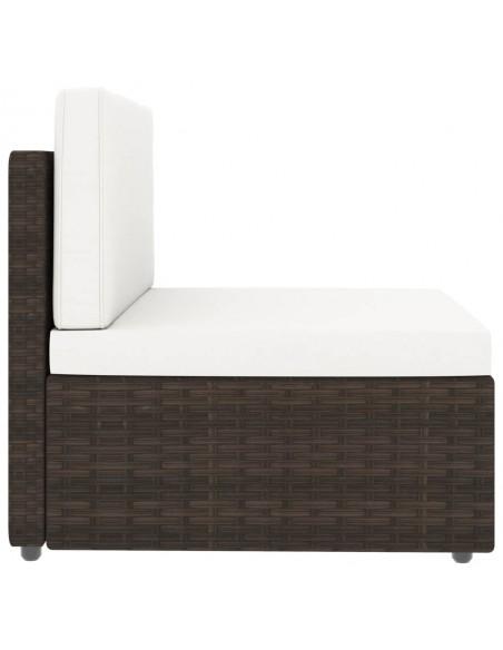 Poilsio komplektas su kreminėmis pagalvėmis, 2 dalių, mediena    Lauko Baldų Komplektai   duodu.lt