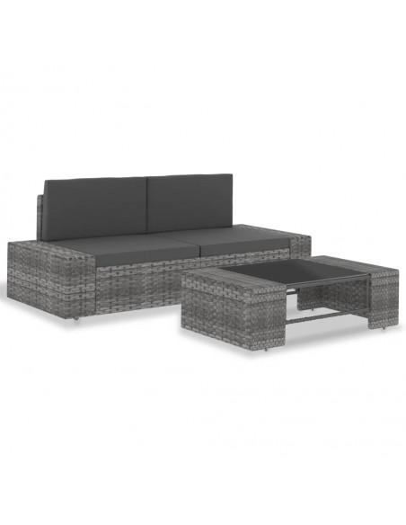 Vidurinė sodo sofa iš palečių su gelėtomis pagalvėmis, mediena  | Lauko Sofos | duodu.lt