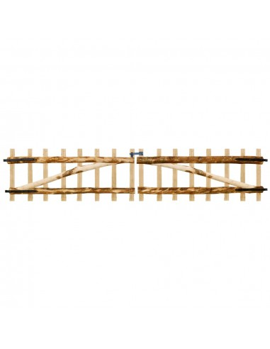 Dvigubi tvoros vartai, lazdyno mediena, 300x60cm   Vartai   duodu.lt