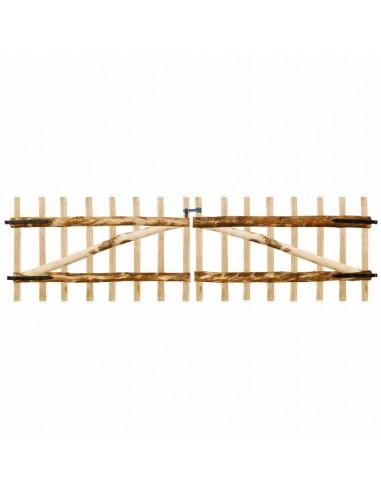 Dvigubi tvoros vartai, lazdyno mediena, 300x90cm   Vartai   duodu.lt