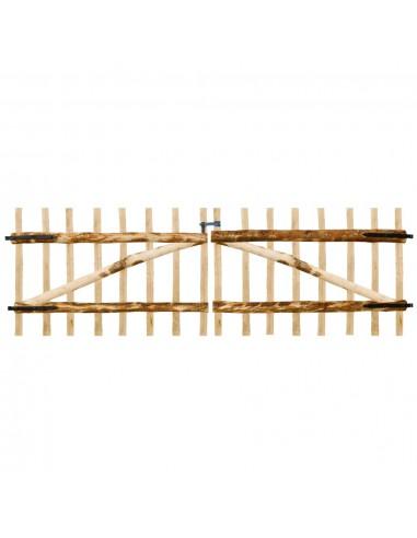 Dvigubi tvoros vartai, lazdyno mediena, 300x100cm | Vartai | duodu.lt