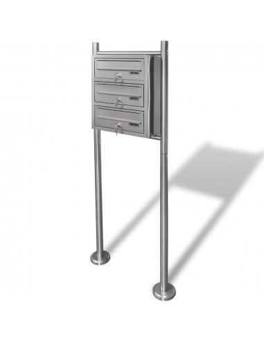 Trijų Dalių Pašto Dėžutė su Stovu, Nerūdijantis Plienas | Pašto dėžutės | duodu.lt