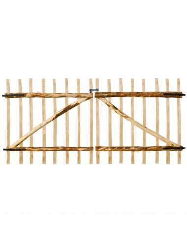 Dvigubi tvoros vartai, lazdyno mediena, 300x150cm   Vartai   duodu.lt