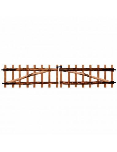 Dvigubi tvoros vartai, impregnuota lazdyno mediena, 300x60cm   Vartai   duodu.lt