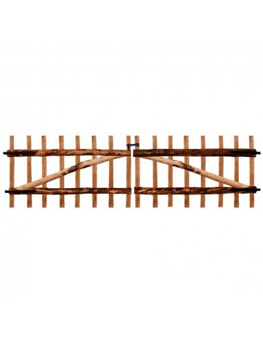 Dvigubi tvoros vartai, impregnuota lazdyno mediena, 300x90cm   Vartai   duodu.lt