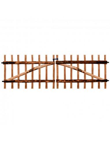 Dvigubi tvoros vartai, impregnuota lazdyno mediena, 300x100cm   Vartai   duodu.lt