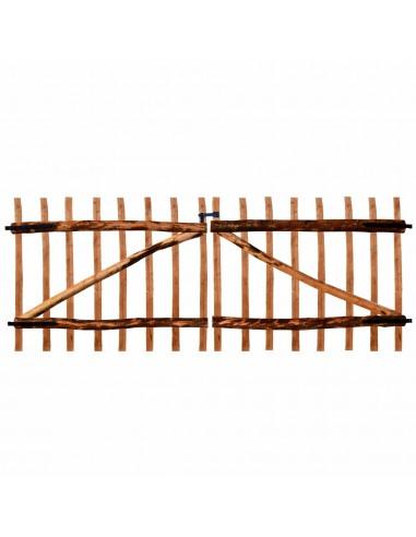 Dvigubi tvoros vartai, impregnuota lazdyno mediena, 300x120cm   Vartai   duodu.lt