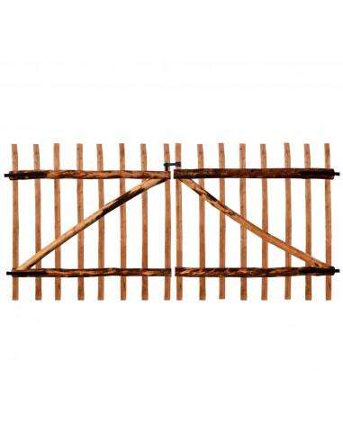 Dvigubi tvoros vartai, impregnuota lazdyno mediena, 300x150cm | Vartai | duodu.lt
