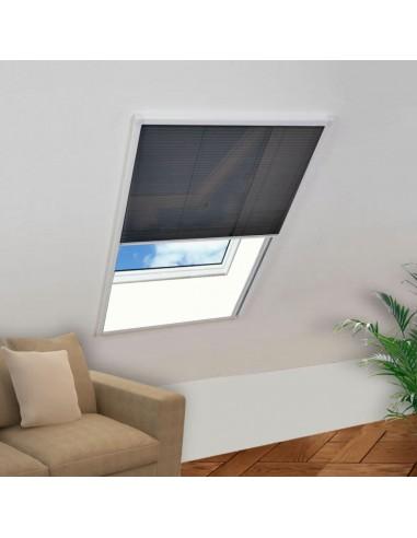 Tinklelis nuo vabzdžių langams, plisuotas, aliuminis, 80x100cm    Langų Tinkleliai   duodu.lt