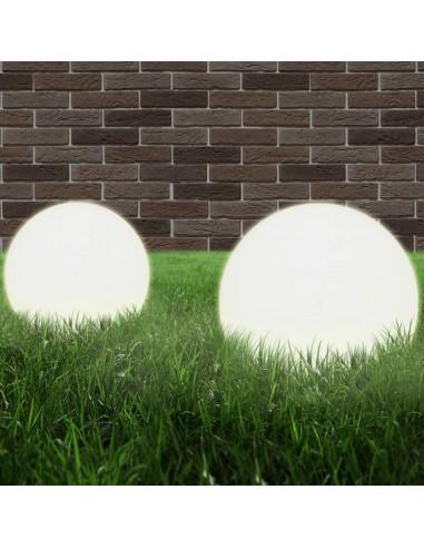 LED lempos, rutulio formos, 2vnt., sferinės, 25cm, PMMA | Lauko apšvietimas | duodu.lt