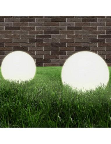 LED lempos, rutulio formos, 2vnt., sferiniai, 40cm, PMMA   Lauko apšvietimas   duodu.lt