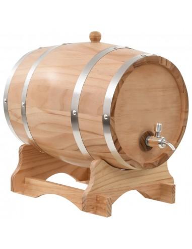Vyno statinė su kraneliu, pušies medienos masyvas, 12l | Vyno gamyba | duodu.lt