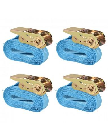 Reketo tvirtinamieji dirželiai 4vnt., 0,8t., 6mx25mm, mėl. sp. | Krovinių tvirtinimo diržai | duodu.lt
