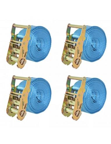 Reketo tvirtinamieji dirželiai, 4vnt., 2t., 6mx38mm, mėlyni | Krovinių tvirtinimo diržai | duodu.lt