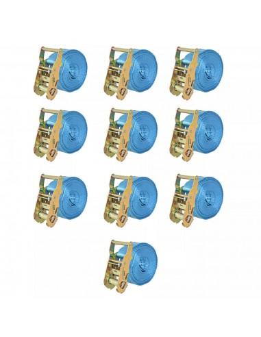 Reketo tvirtinamieji dirželiai, 10vnt., 2t., 6mx38mm, mėlyni | Krovinių tvirtinimo diržai | duodu.lt