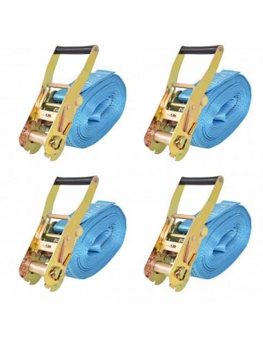 Reketo tvirtinamieji dirželiai, 4vnt., 4t., 8mx50mm, mėlyni   Krovinių tvirtinimo diržai   duodu.lt