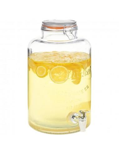 Vandens dozatorius XXL, su čiaupu, 8L, skaidrus stiklas | Talpos gėrimams | duodu.lt