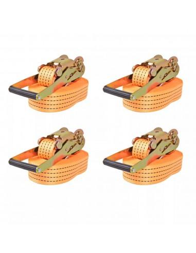 Reketo tvirtinamieji dirželiai, 4vnt., 2t., 8mx50mm, oranž. | Krovinių tvirtinimo diržai | duodu.lt