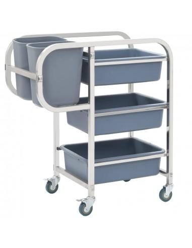 Virtuvės vežimėlis su plastikinėmis dėžėmis, 87x43,5x92cm | Virtuvės ir Valgomojo Staliukai ant Ratukų | duodu.lt