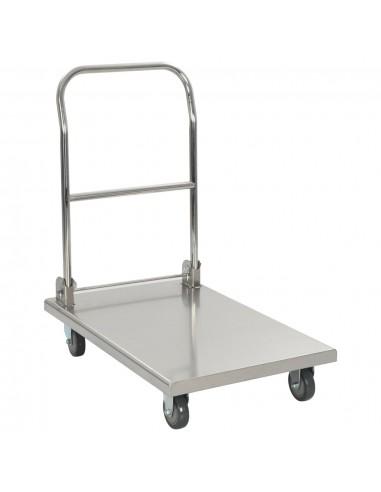Transportavimo vežimėlis, sidabrinis, 82x53x86, nerūdijantis plienas | Virtuvės ir Valgomojo Staliukai ant Ratukų | duodu.lt