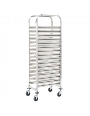 Virtuvės vežimėlis, 65,5x48,5x165cm, nerūdijantis plienas | Virtuvės ir Valgomojo Staliukai ant Ratukų | duodu.lt