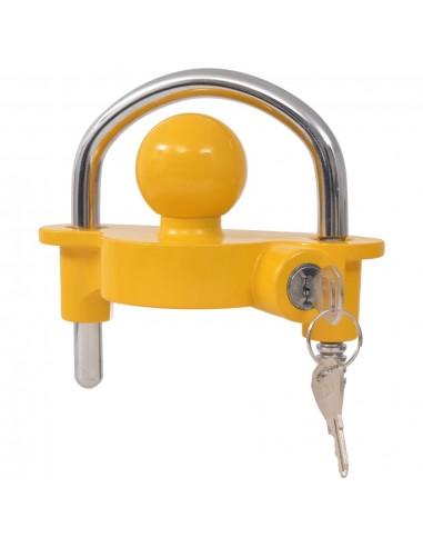 Priekabos spyna su 2 raktais, plienas ir aliuminis, geltonas | Vehicle Hitch Locks | duodu.lt