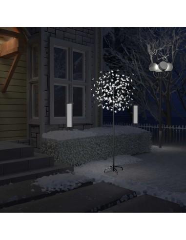 Kalėdinis medis su LED lemputėmis, 180cm, su vyšnių žiedais | Šventiniai papuošimai | duodu.lt