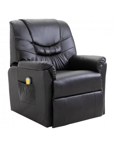 Masažinis krėslas, elektrinis, dirbtinė oda, juodas  | Elektrinės Masažo Kėdės | duodu.lt