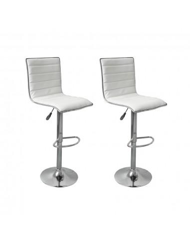 Baro kėdės, 2 vnt., baltos    Stalai ir Baro Kėdės   duodu.lt