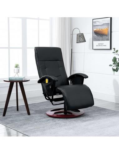 Elektrinis masažinis krėslas, dirbtinė oda, juodas   Elektrinės Masažo Kėdės   duodu.lt