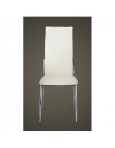 Gembinės valgomojo kėdės, 4vnt., pilkos, dirbtinė oda  | Virtuvės ir Valgomojo Kėdės | duodu.lt