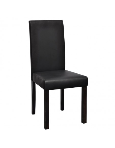 Gembinės valgomojo kėdės, 4vnt., juodos, dirbtinė oda  | Virtuvės ir Valgomojo Kėdės | duodu.lt