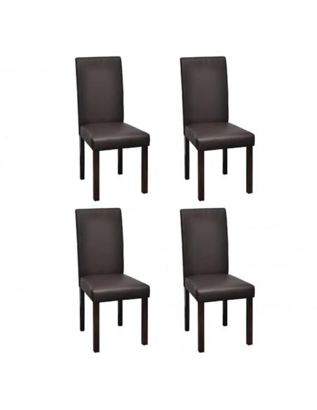 Gembinės valgomojo kėdės, 6vnt., pilkos, dirbtinė oda | Virtuvės ir Valgomojo Kėdės | duodu.lt