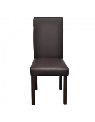 Gembinės valgomojo kėdės, 4vnt., raudonos, dirbtinė oda | Virtuvės ir Valgomojo Kėdės | duodu.lt