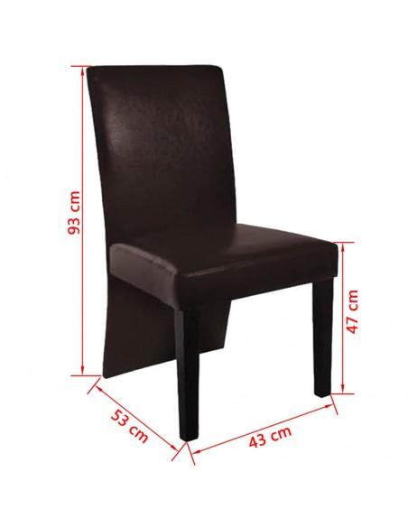 Valgomojo kėdės, 6vnt., pilka zomša, dirbtinė oda | Virtuvės ir Valgomojo Kėdės | duodu.lt