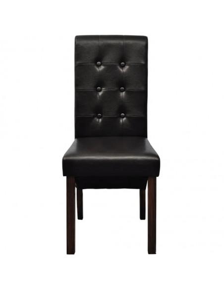 Valgomojo kėdės, 6vnt., rudos, dirbtinė oda  | Virtuvės ir Valgomojo Kėdės | duodu.lt