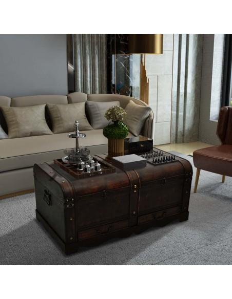 Valgomojo baldų komplektas, 7d., rudas, dirbtinė oda  | Virtuvės ir Valgomojo Baldų Komplektai | duodu.lt