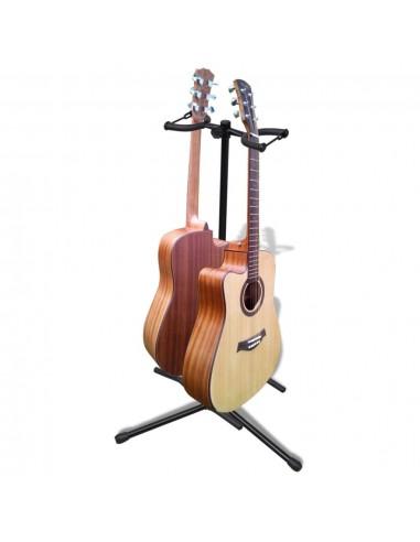 Reguliuojamas Stovas Dviem Gitarom, Sulankstomas | Gitaros aksesuarai | duodu.lt