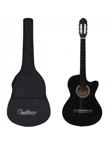 Gitaros rinkinys su ekvalaizeriu, 12 dalių, juodas, 6 stygos | Gitaros | duodu.lt