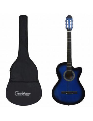 Gitaros rinkinys su ekvalaizeriu, 12 dalių, mėlynas, 6 stygos   | Gitaros | duodu.lt