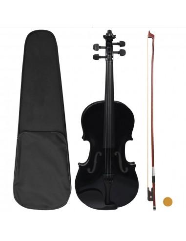 Smuiko rinkinys su stryku ir atrama smakrui, juodas, 4/4 | Smuikai | duodu.lt