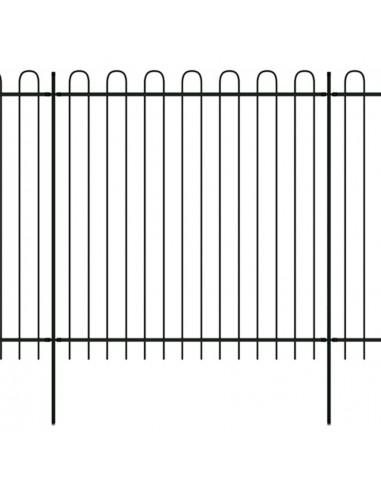 Dekorat. apsaug. strypų tvora, plienas, apval. virš., 600x200cm  | Tvoros Segmentai | duodu.lt